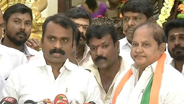DMK former MLA Selvam joined the BJP