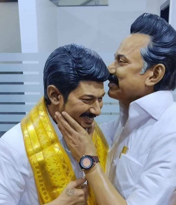Thanga Tamil selvan shared dmk chief stalin, udhay statue picture