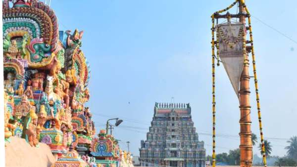 Thiruvarur temple Panguni Uthiram begins with flag hoisting Azhi Therottam on 25th march
