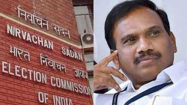 Election Commission banned A Raja from campaigning for 48 hours for his speech against EPS