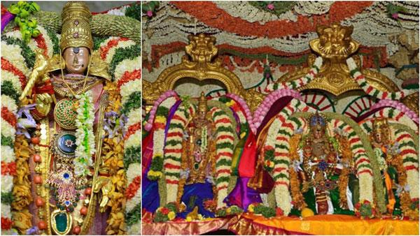 மாணிக்க மூக்குத்தி மதுரை மீனாட்சி... உச்சி முதல் உள்ளங்கால் வரை ஜொலிக்கும் அம்மன்