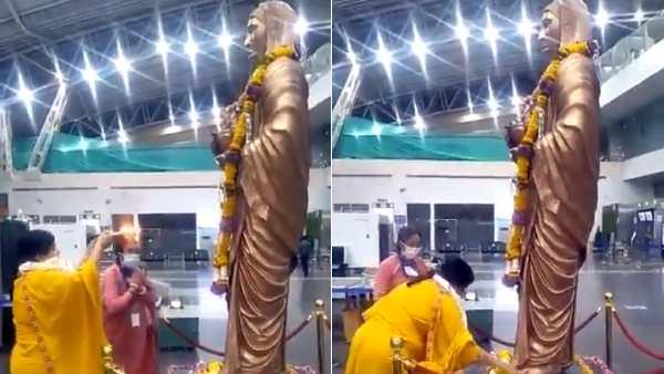 நான் வேதம் படித்தவர்.. கொரோனாவை விரட்டுவேன்.. மாஸ்க் இல்லாமல் பூஜை செய்து ம.பி. பெண் அமைச்சர் அதகளம்