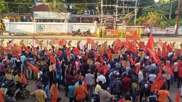கன்னியாகுமரி-  நாம் தமிழர் கட்சி ஆர்ப்பாட்டம்