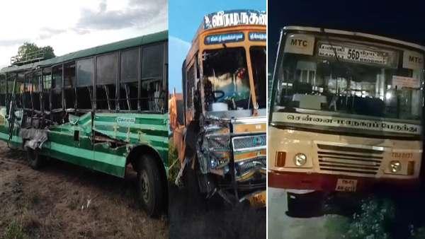 பழனி அருகே அரசு பேருந்து-லாரி நேருக்கு நேர் பயங்கர மோதல்- 3 பேர் பலி; 20 பேர் படுகாயம்