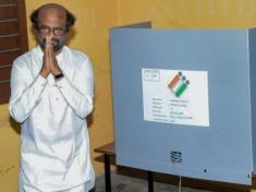 Rajinikanth Inked Wrongly While Voting Satyabrata Sahoou