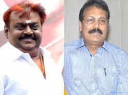 Dr Krishnaswamy Meets Vijayakanth