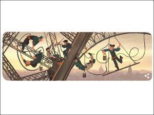 """126 பிறந்தநாளைக் கொண்டாடும் """"இரும்புப் பெண்"""" ஈபிள் டவர்- டூடுள் போட்டு மகிழும் கூகுள்!"""