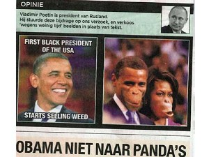 Newspaper Puts Monkey Faces On Obamas