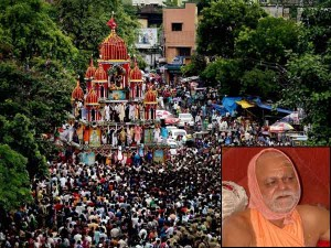 Rath Yatra Held Peacefully Puri Shankaracharya Stays Away