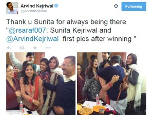 Arvind Kejriwal Thanks Wife Sunita Always Being There