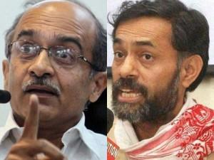Aap Expels Yogendra Yadav Prashanth Bhushan