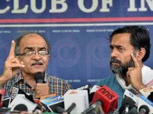 Aap Rebels Yogendra Yadav Prashant Bhushan Hold Convention Despite Party Warning