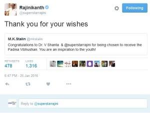 Rajinikanth Responds M K Stalin Chandra Babu Naidu Khushbu