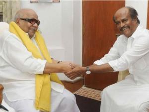 Karunanidhi Greets Rajini Padma Vibhushan Honour