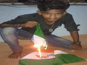 Youth Arrested Burning The National Flag