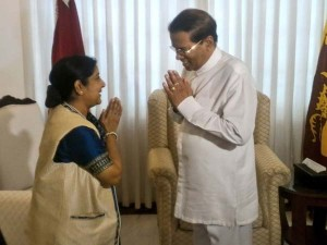 Sushma Swaraj Calls Sri Lankan President