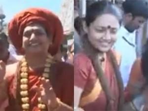 Swami Nithyananda Ranjitha Visits Tirumala New Look