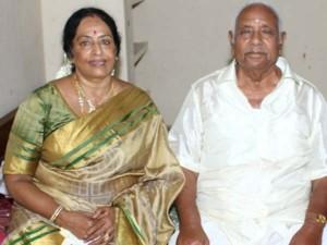 K R Vijaya Husband Cremation Today