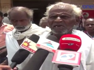 Elders Protest Pension
