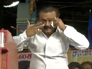 Vijayakanth Upset Over Cadres Reaction