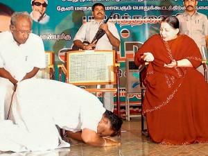 Ops Worshping Jayalalithas Car