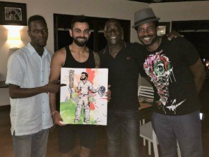 Vivian Richards Son Mali Gifts Virat Kohli Painting Celebrate His Double Century