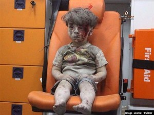 Haunting Image Syrian Boy Rescued From Aleppo Rubble Released