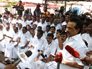Dmk Mlas Click Selfies When They Doing Dharna