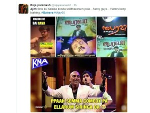 Ajith Fans Tweets On Bairava