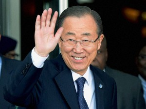 Un Chief Ban Ki Moon Meets Ranil Vikramasinghe