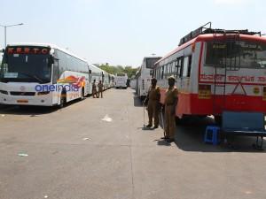 Karnataka Vehicles Stopped At Border