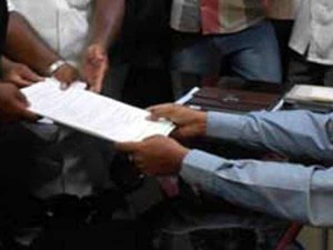 Admk Candidates File Their Nominations 4 Assembly Seats