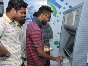 Long Queues At Atms Continue No Money Anger Grows
