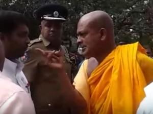 Buddhist Monk Threats Tamil Grama Sevaka Batticaloa