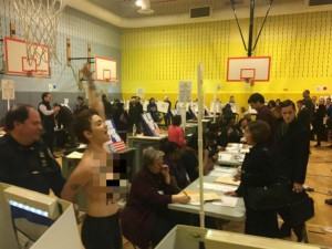 Bare Chested Anti Trump Protesters Removed From Polling Place