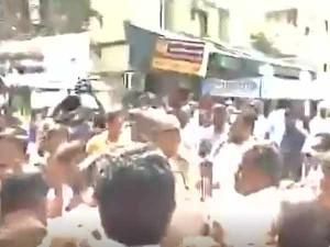 Sasikala Pushpa S Husband Attack Sasikala Natarajan Supporters