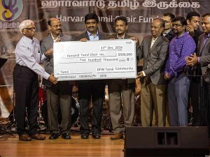 Lakh Donation Harvard University Tamil Chair