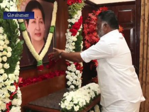 Ops Chairs Cabinet Meeting Condolence Jayalalithaa