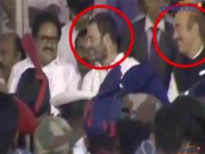 Rahul Gandhi Caught Laughing At Jayalalithaa S Funeral Function