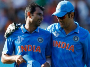 Ms Dhoni Is Like Father Figure Me Mohammed Shami
