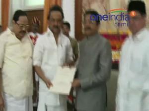 Mk Stalin Meets Tn Governor Vidyasagar Rao