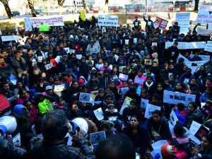 Tamils Gather Dallas Downtown Jallikkattu