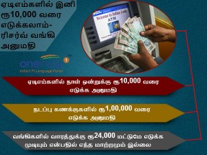 Rbi Raises Atm Cash Withdrawl Limit Rs 10 000 Per Day