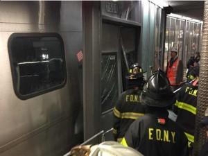 Over 100 People Injured New York Commuter Train Derailment