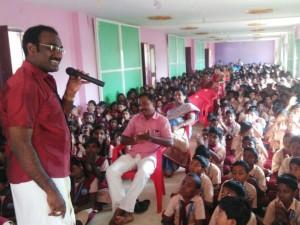 Devakottai Ramanathan Delivers Lecture Karaikudi School