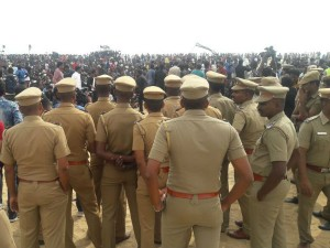 Student Trying Stage Protest At Marina
