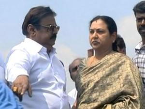 Vijayakanth Visits Ennore Coastal Area