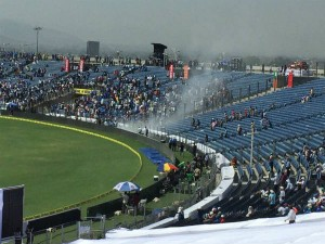 India Vs Australia 1st Test Fire At Stadium Halts Play On 2nd Day