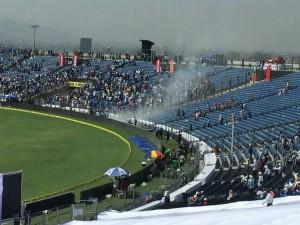 India Vs Australia 1st Test Fire At Stadium Halts Play On 2nd Day