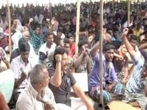 Nagai Fishermen Continue Protest 5th Day